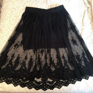 Torrid: Black Lace Skirt
